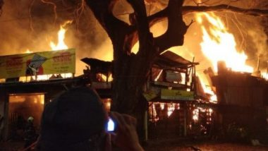 Mumbai: Fire Breaks Out in Byculla Timberyard, 8 Fire Engines at Spot