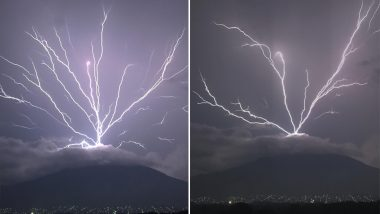 Upward Lightning on Guatemala Mountain Caught on Camera, See Viral Pics and Video of This Unbelievable Natural Phenomenon!