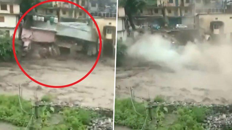 Uttarakhand Rains: House Collapses As Flash Flood Hits Chamoli District, IMD Predicts More Rainfall; Watch Video