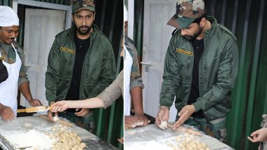 Vicky Kaushal Makes His First Ever 'Roti' For The Indian Army and He Is Beyond Thrilled! (View Pics and Video)