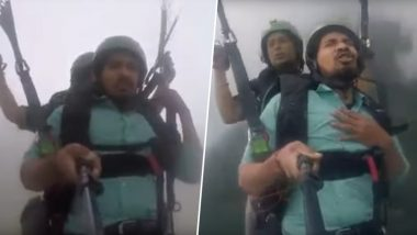 Who Is the Viral 'Land Kara De Bas' Indian Guy? After 'Funny' Paragliding Attempt, Vipin Sahu Now Wants to Try Skydiving