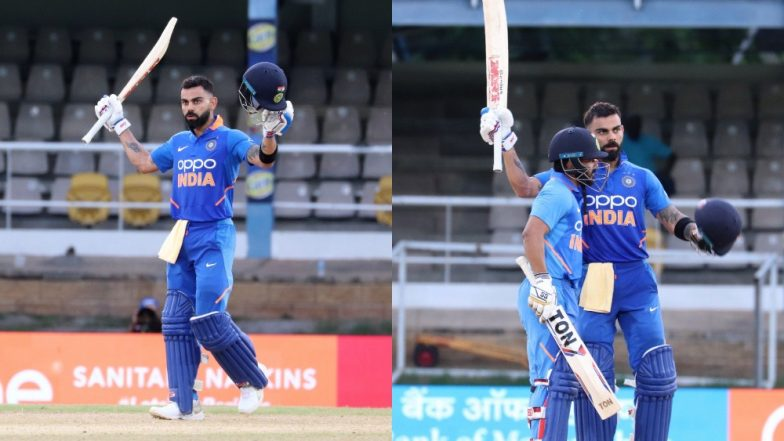 India vs West Indies 3rd ODI Stat Highlights: Virat Kohli Scripts History As IND Beat WI by 6 Wickets to Seal ODI Series 2–0