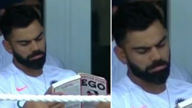 Virat Kohli Reads 'Detox Your Ego' Book: Fans Mockingly Advice Indian Captain to Read More of Such Books During IND vs WI 1st Test 2019