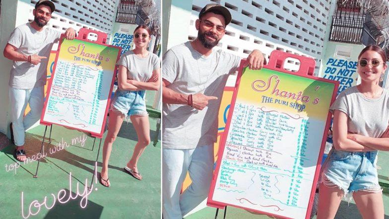 Virat Kohli and Anushka Sharma Enjoy Meal on a Sunny Day in Guyana Ahead of India vs West Indies 1st ODI 2019, Indian Skipper Shares Photo on Instagram
