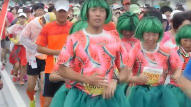 Watermelon Road Race 2019: People Participate in Fun-Filled Event in Japan (Watch Video)