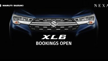 Maruti Suzuki XL6 MPV Bookings Now Open at Rs 11,000 Via Nexa Showrooms