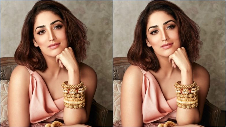 Yami Gautam Flaunts Modern Yet Traditional Avatar With Peach and Gold