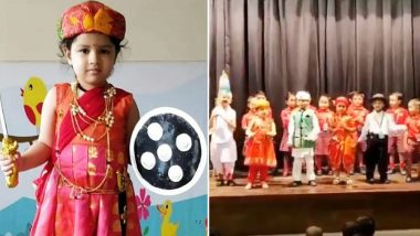 Pic of Ziva Dhoni Dressed Up As Rani Lakshmi Bai For Independence Day 2019 Goes Viral; See MS Dhoni's Daughter in Cute Avatar