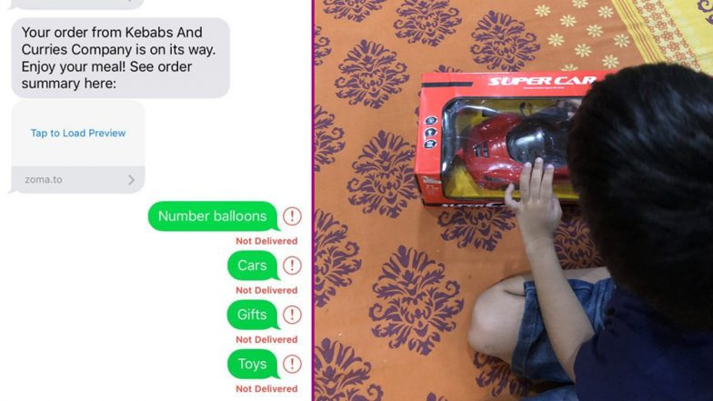 Zomato Delivered Toys to a Little Boy Who Messaged Them to Send Gifts, Internet Can't Stop Awwing!