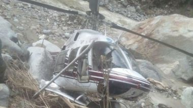 Uttarakhand: Helicopter Engaged in Relief Works Makes Emergency Landing in Uttarkashi