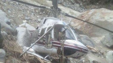 Uttarakhand: Helicopter Engaged in Relief Works Makes Emergency Landing in Uttarkashi