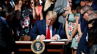 US President Donald Trump Signs 'Bipartisan Budget Act of 2019' to Boost Spending