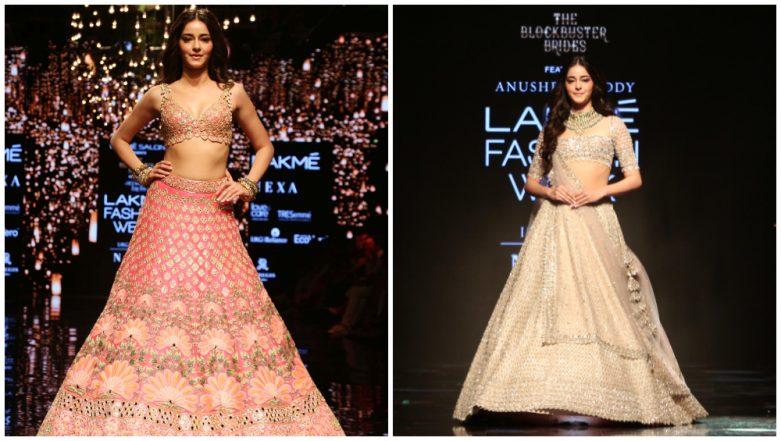 LFW Winter/Festive 2019: Ananya Panday Carries Two Bridal Looks for Anushree Reddy and Arpita Mehta Looking Gorgeous AF (See Pics)