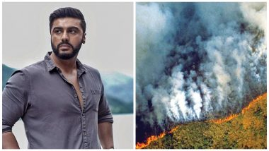 Amazon Rainforest Fires: Arjun Kapoor Tweets about the Calamity to Bring It to His Followers' Attention, Says 'It's Scary'