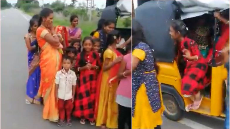 Telangana Cop Shares Video of 24 Passengers Travelling in One Autorickshaw; Twitterati Calls for Better Public Transport System