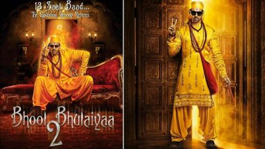 Bhool Bhulaiyaa 2 Poster: Kartik Aaryan Resembles Akshay Kumar To The T In The First Look Of The Horror Comedy! (View Pic)