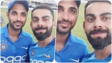 Virat Kohli and Bhuvneshwar Kumar Take a Fun Selfie; Indian Skipper Praises Pacer's Four-Wicket Haul During India vs West Indies 2nd ODI 2019 (View Post)