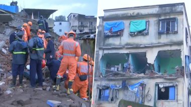 Bhiwandi Building Collapse: 2 Dead, Several Feared Trapped After Four-Storey Building Collapses in Shanti Nagar