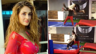 Hottie Disha Patani Has Finally Mastered The FRONT-FLIP And It's Super Impressive! Watch Video
