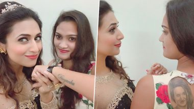 Divyanka Tripathi Dahiya's Fan Gets Her Face Inked on Her Back and This Is How the Actress Reacted (View Pic)