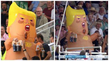 Baby Donald Trump Balloon Excites Crowd at Edgbaston Stadium During England vs Australia 1st Test of Ashes 2019, (Watch Video)