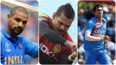 India vs West Indies 2nd T20I 2019: Shikhar Dhawan, Navdeep Saini, Sunil Narine and Other Players to Watch Out for at Florida