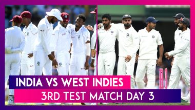 India vs West Indies Stat Highlights, 1st Test 2019 Day 3: Virat Kohli, Ajinkya Rahane Smash Fifties