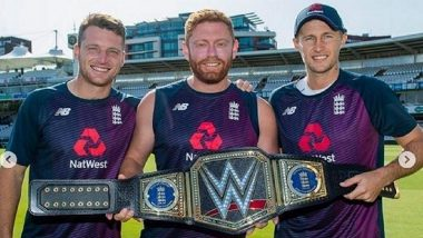 England Cricket Team Receives Customised WWE Championship Belt for Winning Their Maiden World Cup