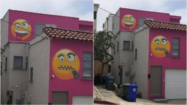 Bright Pink Emoji House Annoys Neighbours in Manhattan, Residents Demand Legal Action Against the House Owner (View Pic)
