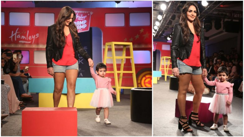 LFW Winter/Festive 2019 Day 5: Esha Deol Teams Up with Daughter Radhya Takhtani for the Most Adorable Walk at Lakme Fashion Week (See Pics)