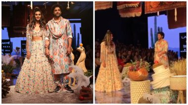 LFW Winter/Festive 2019: Shibani Dandekar's 'Palat' Moment for Farhan Akhtar as They Walk the Runway Is So Cute (See Pics and Video)