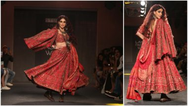 LFW Winter/Festive 2019: Genelia D'Souza's Red Hot Look Will Make You Sing 'Jaane Tu Ya Jaane Na' (See Pics)