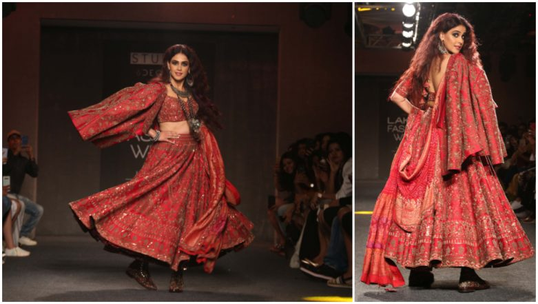 LFW Winter/Festive 2019: Genelia D'Souza's Red Hot Look Will Make You Sing 'Jaane Tu Ya Jaane Na' (See Pics)