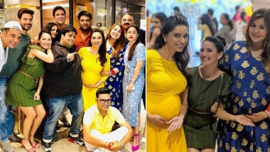 Kapil Sharma's Wife Ginni Chatrath Flaunts Her Baby Bump at a Friend's Baby Shower (View Pics)