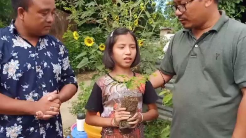 Valentina Elangbam, Young Manipuri Girl Who Cried Over Trees Being Cut Appointed as 'Green Ambassador' of State
