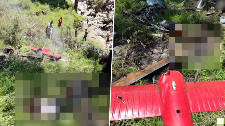 Helicopter Crashes in Uttarakhand, Was Carrying Relief Material to Flood-Affected Uttarkashi; Three Killed