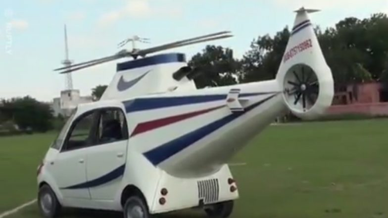 Tata Nano Turned Into a Helicopter by Bihari Man Who Aspired to Fly a Plane (Watch Inspiring Video)