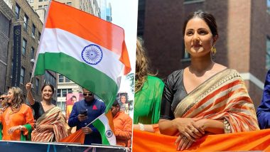 Hina Khan Waving National Flag At 39th India Day Parade in New York Will Make You Extremely Proud Of The TV Actress (View Pics)