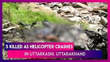 Uttarakhand: Three Killed As Helicopter Carrying Flood Relief Material Crashes In Uttarkashi