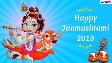 Janmashtami 2019 WhatsApp DP and Status: Gokulashtami Stickers, Wishes, Greetings and Quotes for Lord Krishna's Birthday