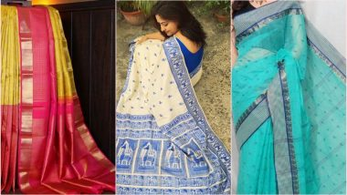 National Handloom Day 2019: From Muga Silk to Tant, 6 Types of Indian Handloom Sarees You Must Own (View Pics)