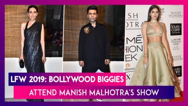 Lakme Fashion Week 2019: Karan Johar, Khushi Kapoor, And Karisma Kapoor Grace Manish Malhotra's Show