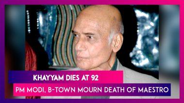 Legendary Music Composer Khayyam Dies At 92, PM Modi, Bollywood Mourn His Death