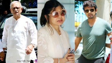 Khayyam Funeral Pics: Gulzar, Sonu Nigam, Alka Yagnik Attend The Last Rites of Indian Music Legend