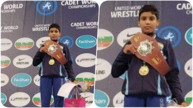 15-year-Old Wrestler Komal Wins Gold Medal in Cadet Wrestling World Championships 2019