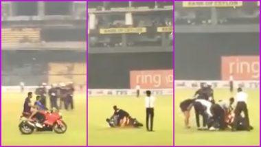 Kusal Mendis' Bike Slips While Celebrating Sri Lanka's ODI Series Win Over Bangladesh, Watch Viral Video