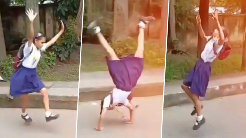 Viral Video of School Kids Performing Somersaults in Uniform Is Making Netizens Say, 'Send Them to the Olympics!'