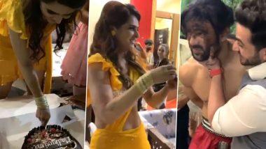 Nach Baliye 9: Madhurima Tuli Celebrates Her Birthday on the Sets of Salman Khan's Dance Show, Takes Sweet Revenge on Her Ex-Boyfriend Vishal Aditya Singh (Watch Video)