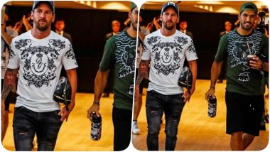 Lionel Messi Joins Barcelona After Long Vacation Ahead of the Joan Gamper Trophy 2019 Final Match Against Arsenal