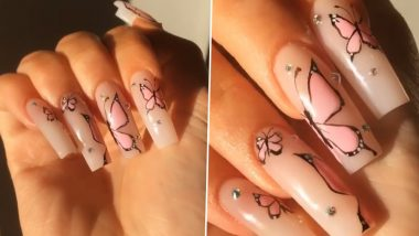 Kylie Jenner Butterfly Nail Art: Here's How You Can Get the Dainty Manicure at home(Watch Tutorial Video)